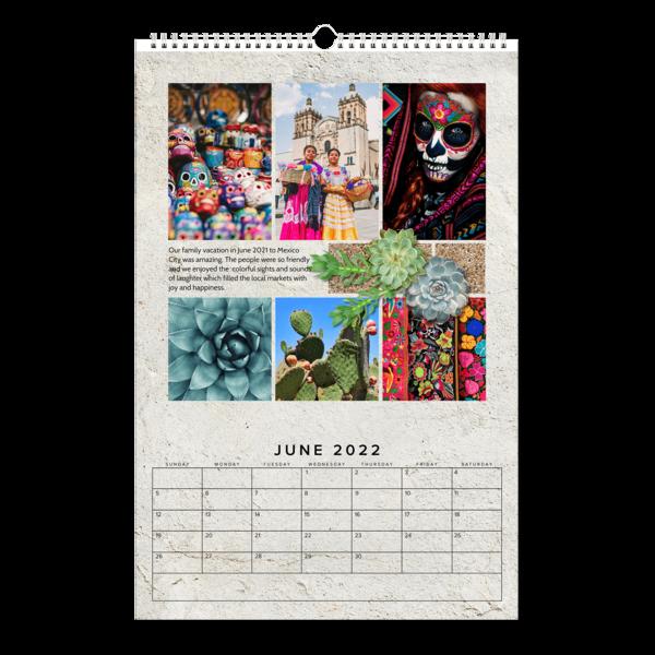 Succulents And Stone Calendar Calendar