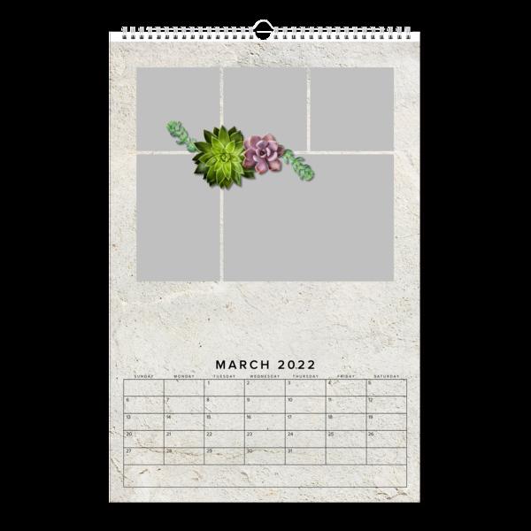 Succulents And Stone Calendar