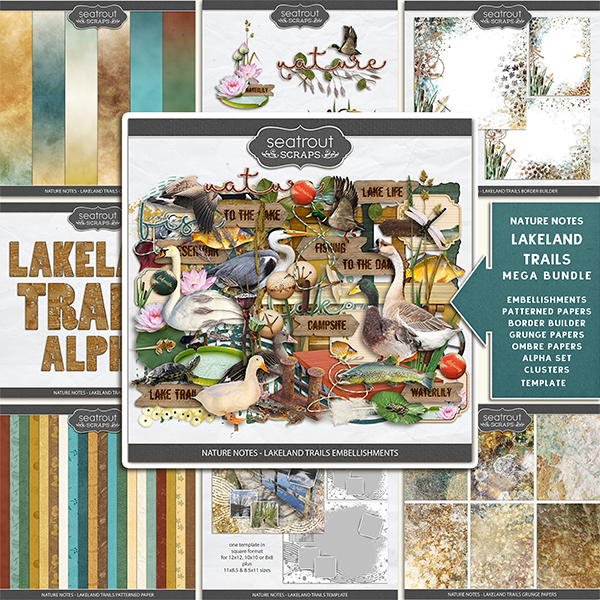 Nature Notes - Lakeland Trails Mega Bundle Digital Art - Digital Scrapbooking Kits