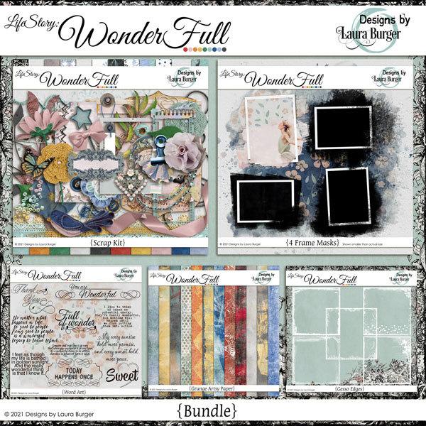 Life Story - Wonderfull Bundle Digital Art - Digital Scrapbooking Kits