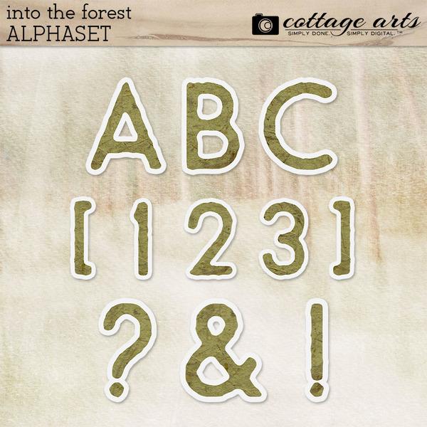 Into the Forest AlphaSet Digital Art - Digital Scrapbooking Kits