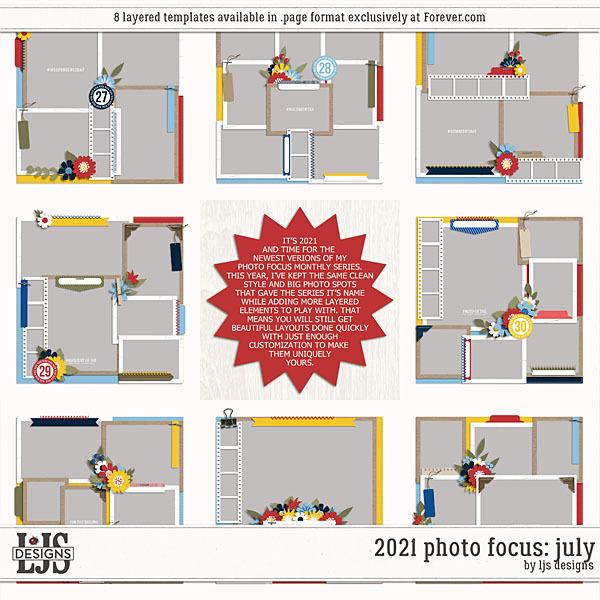 2021 Photo Focus - July Digital Art - Digital Scrapbooking Kits