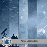 Across Space & Time Space Collage Papers