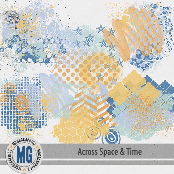 Across Space & Time Hodge Podge Digital Art - Digital Scrapbooking Kits