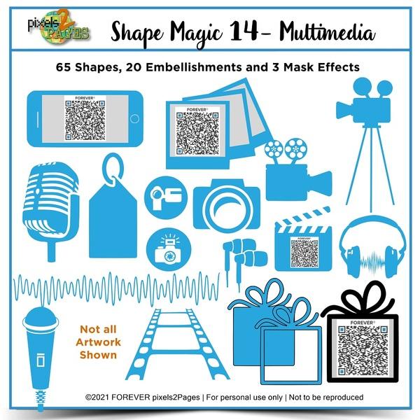 Shape Magic 14 - Multimedia Digital Art - Digital Scrapbooking Kits