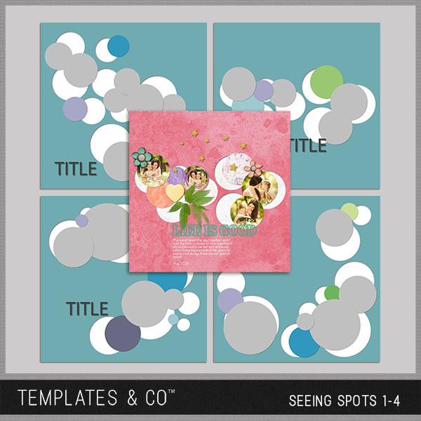 Seeing Spots 1-4 Digital Art - Digital Scrapbooking Kits