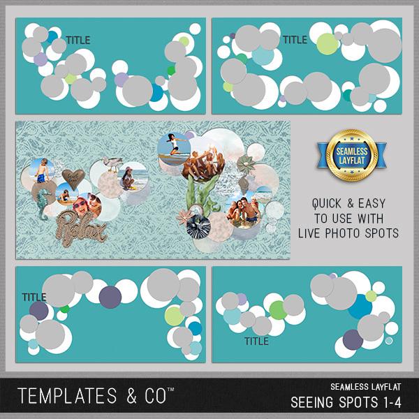 Seamless Layflat Seeing Spots 1-4 Digital Art - Digital Scrapbooking Kits