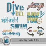 Game Day Swim & Dive Word Art