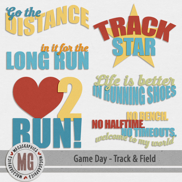 Game Day Track & Field Word Art
