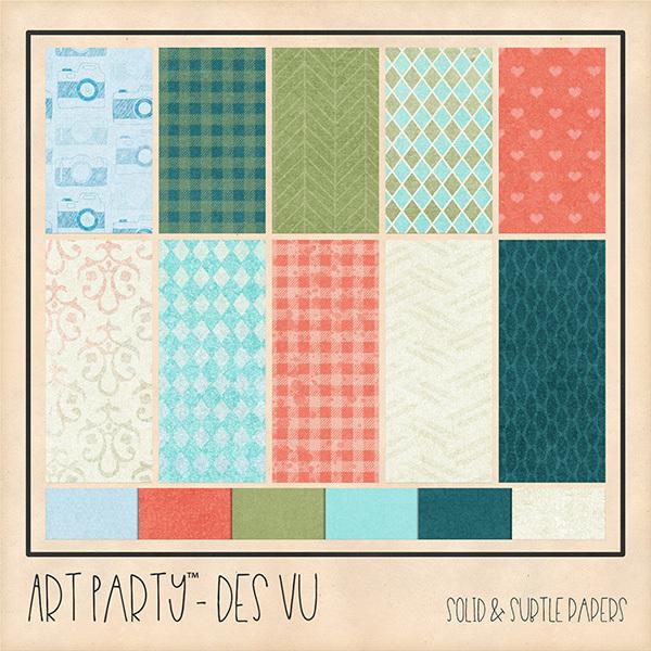 Des Vu - Solid & Subtle Papers Digital Art - Digital Scrapbooking Kits