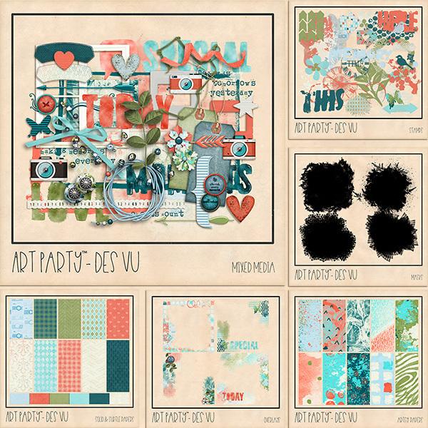 Des Vu - Bundle Digital Art - Digital Scrapbooking Kits
