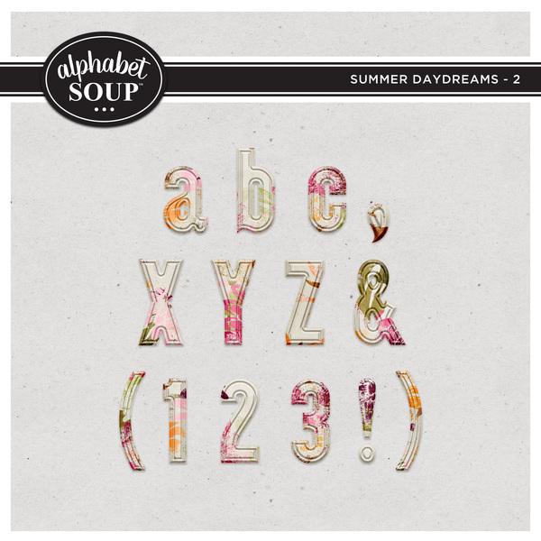 Summer Daydreams Alpha - 2 Digital Art - Digital Scrapbooking Kits