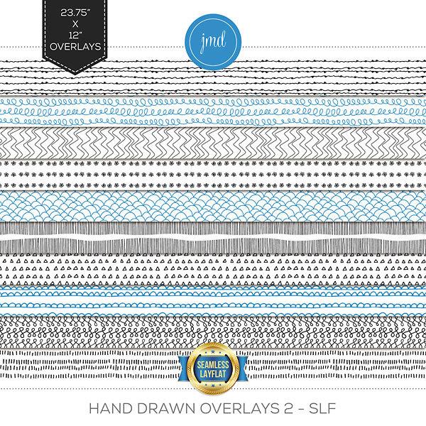 Hand Drawn Overlays 2 - SLF Digital Art - Digital Scrapbooking Kits