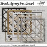 French Memo Pin Boards Scrap Kit