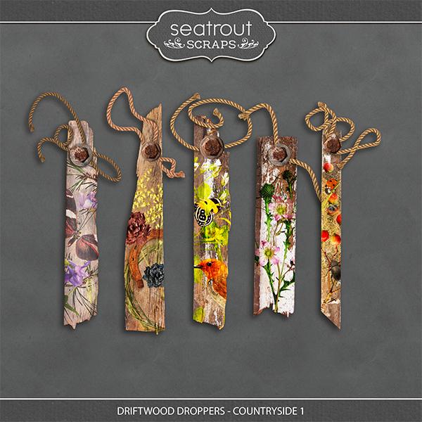 Driftwood Droppers - Countryside 1 Digital Art - Digital Scrapbooking Kits