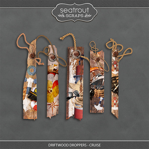 Driftwood Droppers - Cruise Digital Art - Digital Scrapbooking Kits