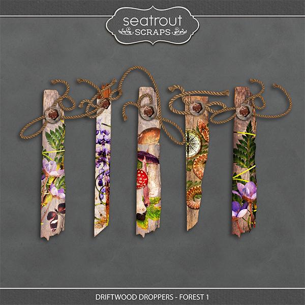 Driftwood Droppers - Forest 1 Digital Art - Digital Scrapbooking Kits