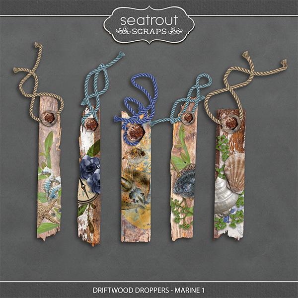 Driftwood Droppers - Marine 1 Digital Art - Digital Scrapbooking Kits