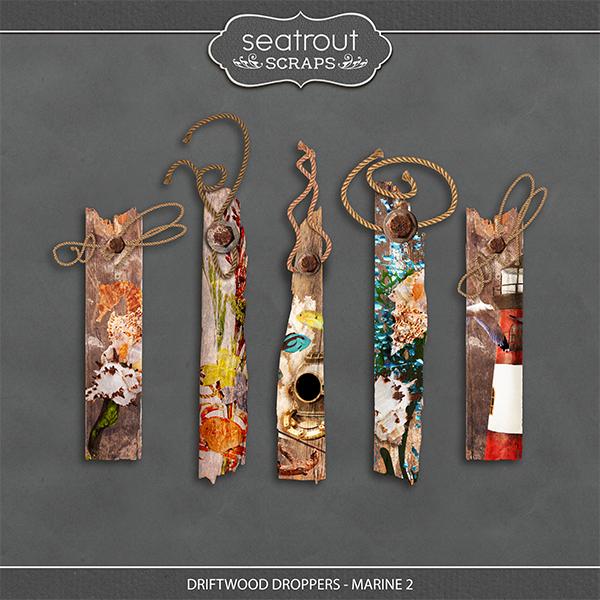Driftwood Droppers - Marine 2 Digital Art - Digital Scrapbooking Kits