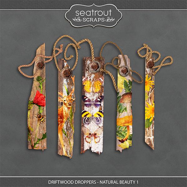 Driftwood Droppers - Natural Beauty 1 Digital Art - Digital Scrapbooking Kits
