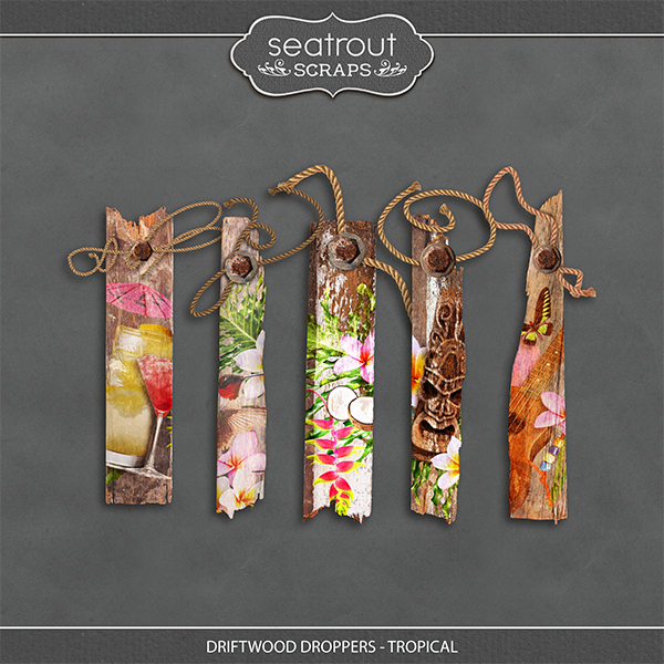 Driftwood Droppers - Tropical Digital Art - Digital Scrapbooking Kits