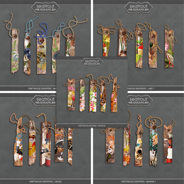 Driftwood Droppers - Bundle 1 Digital Art - Digital Scrapbooking Kits