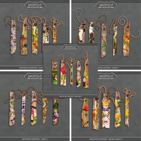 Driftwood Droppers - Bundle 2 Digital Art - Digital Scrapbooking Kits