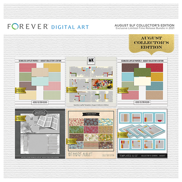 August SLF Collector's Edition Digital Art - Digital Scrapbooking Kits