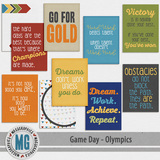 Game Day Olympics Journal Cards