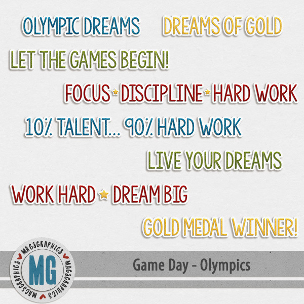 Game Day Olympics Word Art