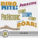 Dino World Word Art