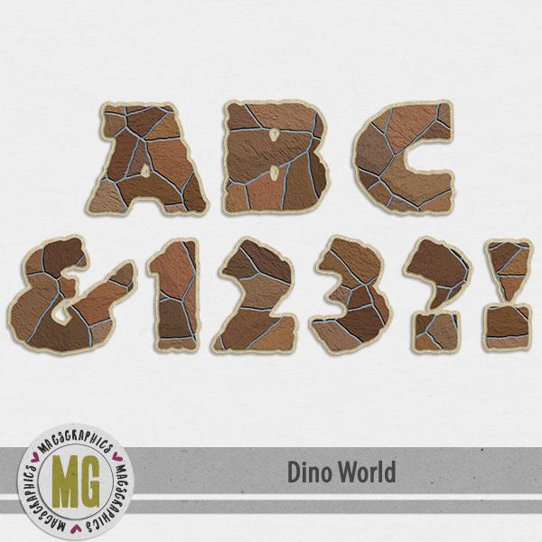 Dino World Alpha Digital Art - Digital Scrapbooking Kits