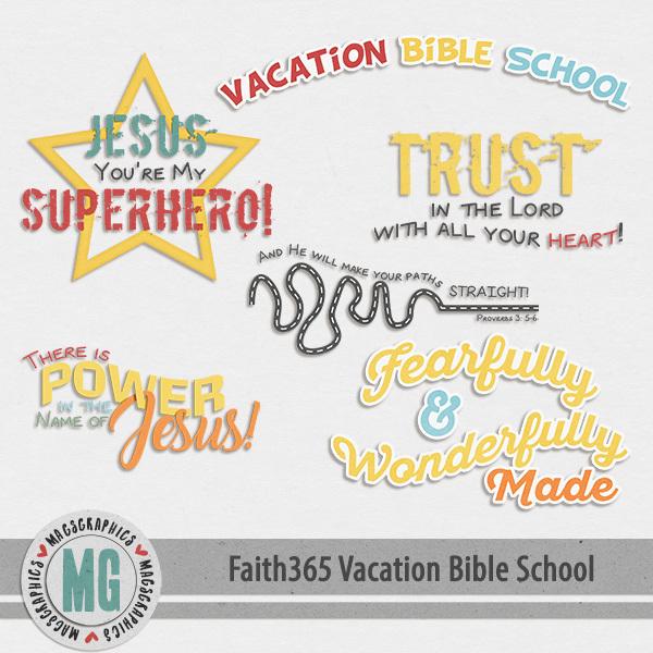 Faith365 Vacation Bible School Word Art Digital Art - Digital Scrapbooking Kits