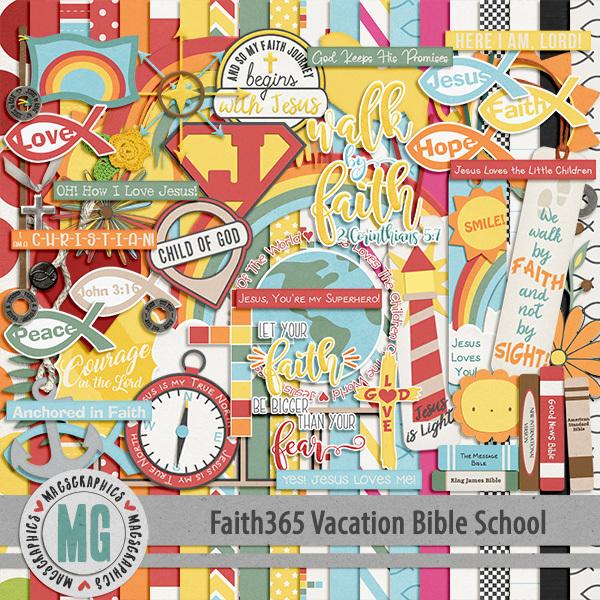 Faith365 Vacation Bible School Kit Digital Art - Digital Scrapbooking Kits
