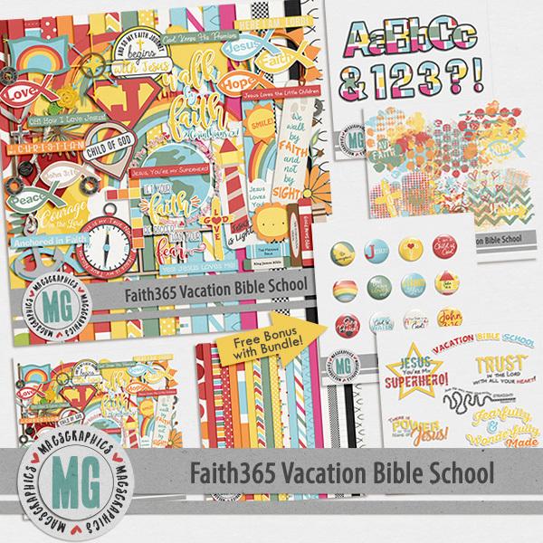 Faith365 Vacation Bible School Bundle Digital Art - Digital Scrapbooking Kits