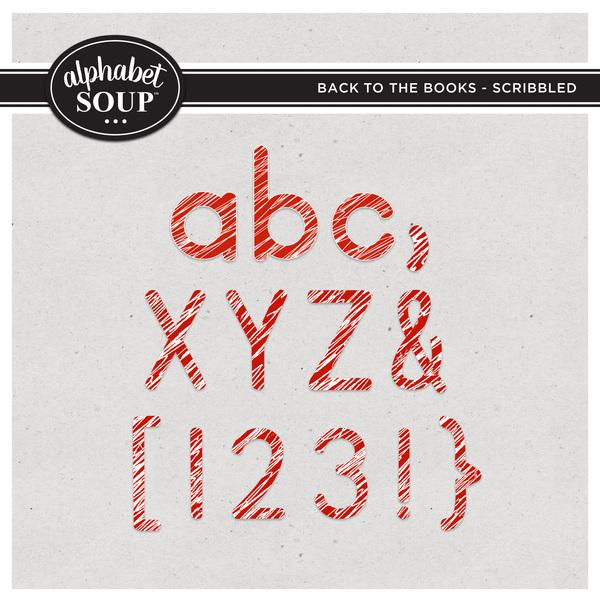 Back to the Books Alpha - Scribbled Digital Art - Digital Scrapbooking Kits