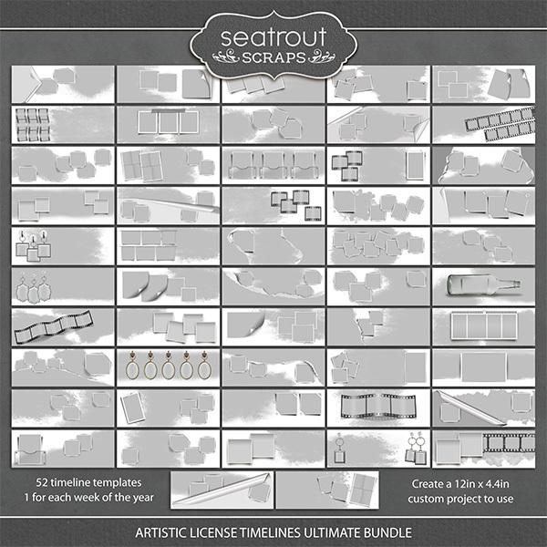 Artistic License Ultimate Timeline Bundle Digital Art - Digital Scrapbooking Kits