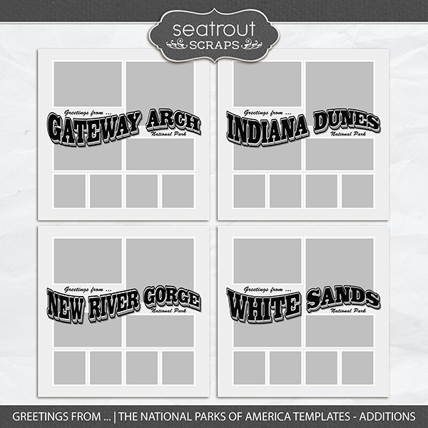 Greetings from ... The National Parks of America Templates - Additions
