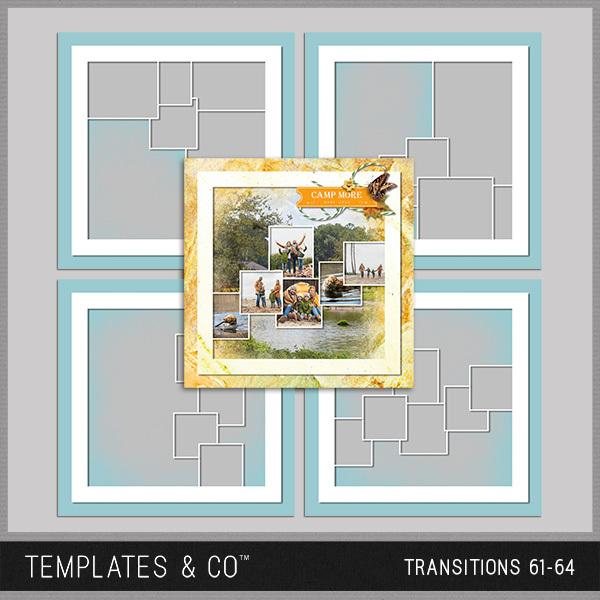 Transitions 61-64 Digital Art - Digital Scrapbooking Kits