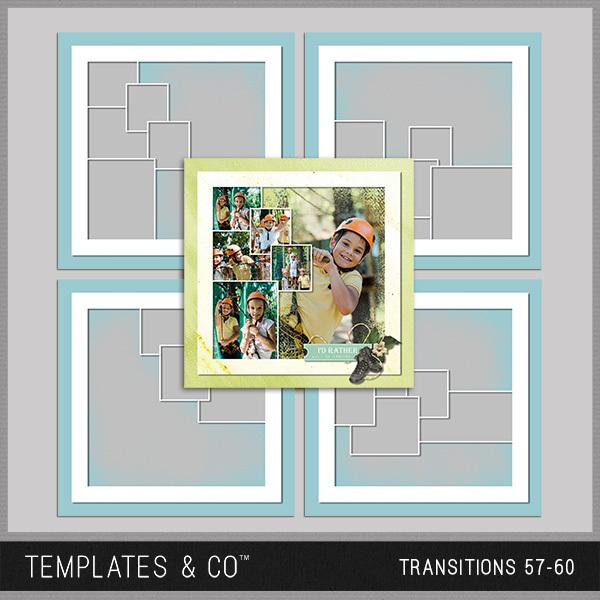 Transitions 57-60 Digital Art - Digital Scrapbooking Kits