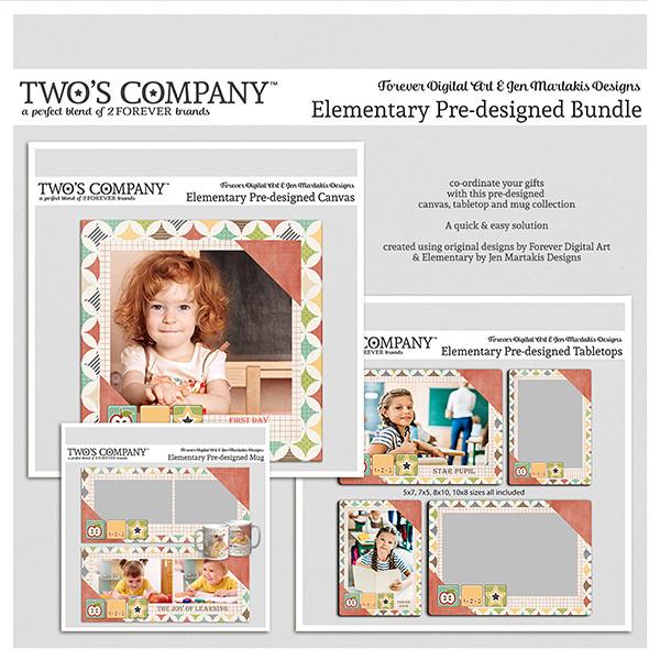 Elementary Pre-designed Bundle Digital Art - Digital Scrapbooking Kits