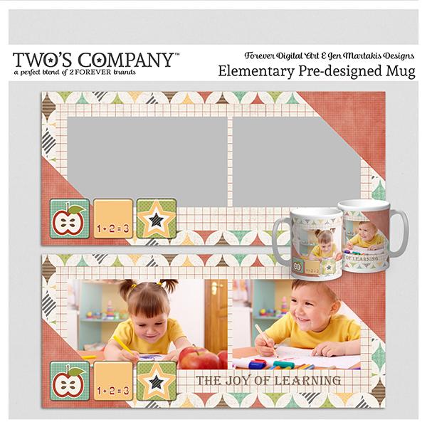 Elementary Pre-designed Mug Digital Art - Digital Scrapbooking Kits