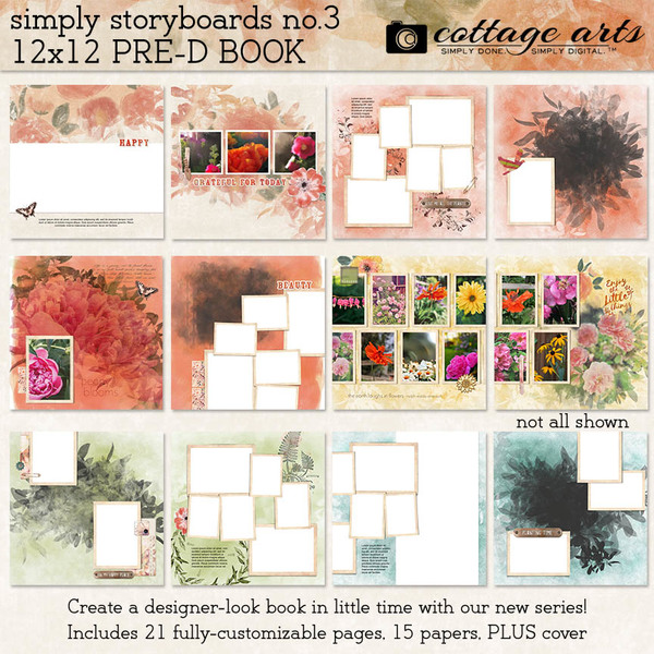 Simply Storyboards 3 - 12x12 Pre-designed Book Digital Art - Digital Scrapbooking Kits