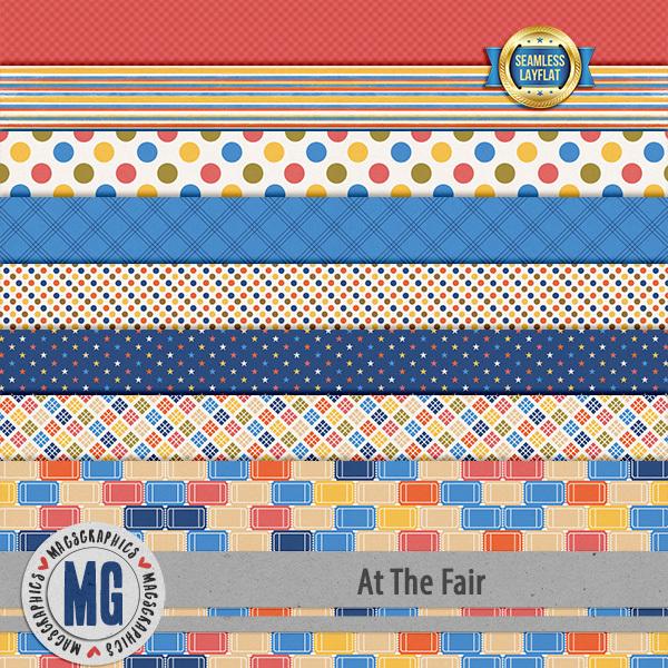 At The Fair SLF Papers Digital Art - Digital Scrapbooking Kits