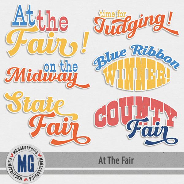 At The Fair Word Art Digital Art - Digital Scrapbooking Kits