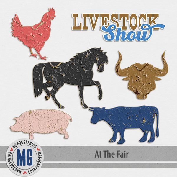 At The Fair Livestock Digital Art - Digital Scrapbooking Kits