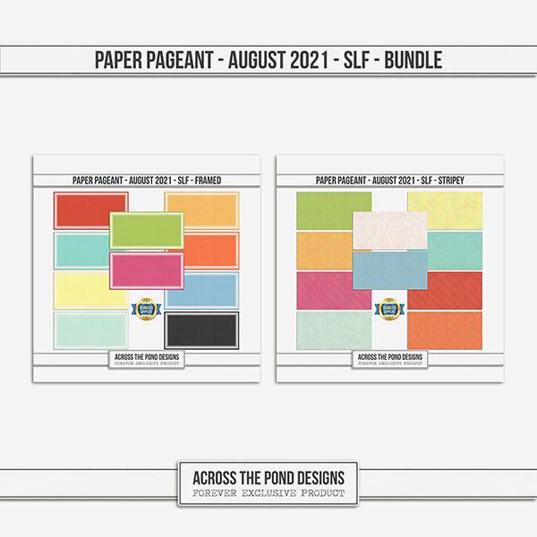 Paper Pageant - August 2021 - SLF - Bundle Digital Art - Digital Scrapbooking Kits
