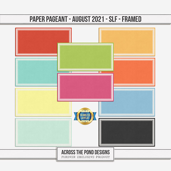 Paper Pageant - August 2021 - SLF - Framed Digital Art - Digital Scrapbooking Kits