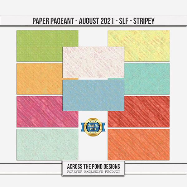 Paper Pageant - August 2021 - SLF - Stripey Digital Art - Digital Scrapbooking Kits