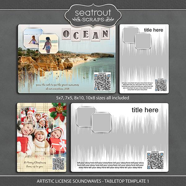Artistic License Soundwaves -Tabletop Template 1 Digital Art - Digital Scrapbooking Kits